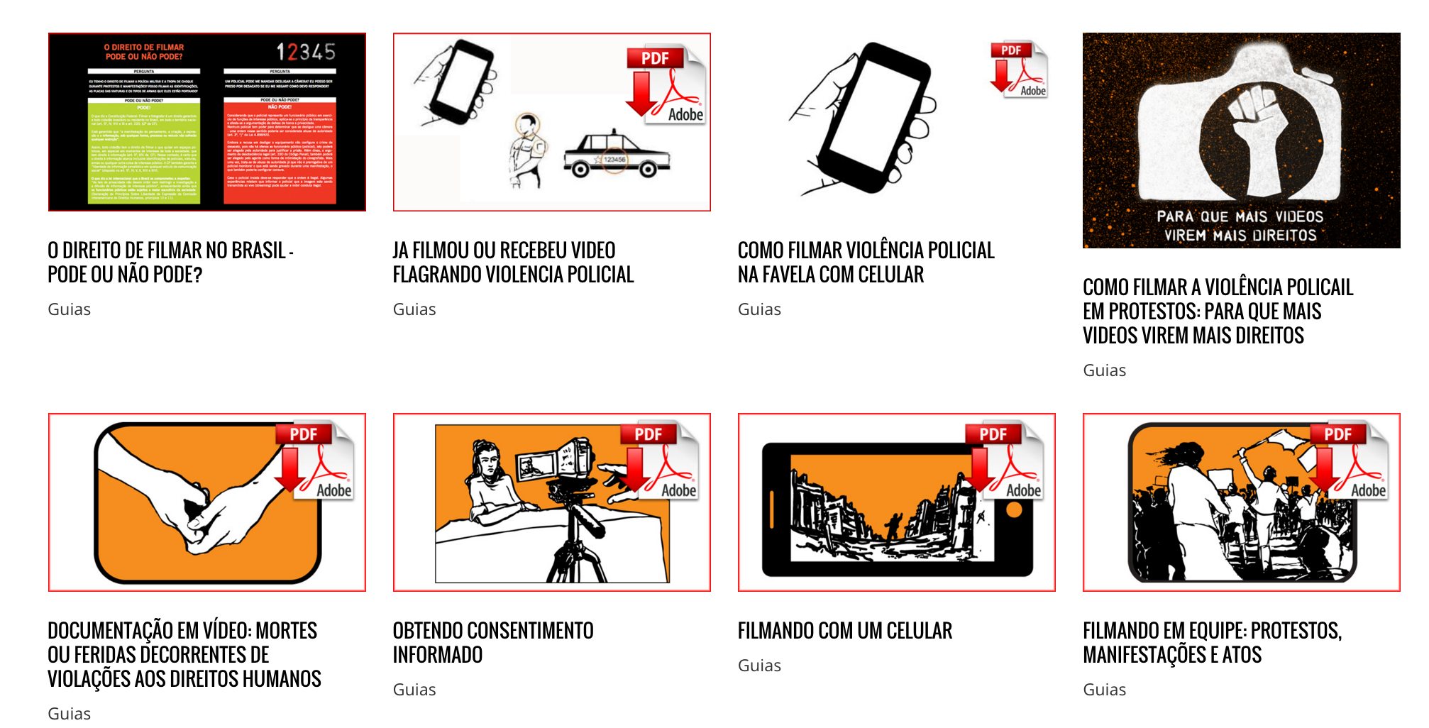 Screen Shot Tutoriais Site Portugues